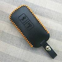 Bao da 2 nút dùng cho chìa khóa smartkey xe máy Honda (Đen)