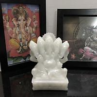Tượng Đá Thần Voi Ganesha 5 Đầu - Đá Non Nước
