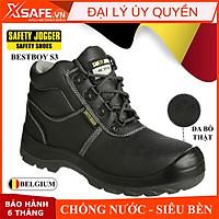 Giày bảo hộ lao động nam Jogger Bestboy S3 cổ cao da bò, chống đinh/ nước/ trượt. Giày công trình dáng thể thao - XSAFE