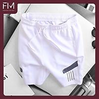 Quần short nam thể thao thun lạnh cao cấp, phối sọc, thoải mái, năng động, trẻ trung – FORMEN SHOP – FMPS140