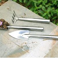 Bộ dụng cụ làm vườn 3 món inox