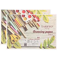 Lốc 2 Xấp Giấy Vẽ Takeyo 8734 A4 - 20 Tờ DL160 - Giao Mẫu Ngẫu Nhiên