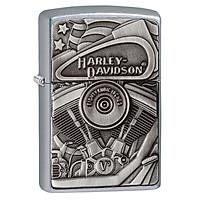 Bật Lửa Zippo Harley Davidson Motor Flag Street Chromre 29266