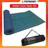 Thảm tập Yoga định tuyến TPE cao cấp tặng kèm túi đựng - chống trơn trượt thấm hút mồ hôi  tốt chính hãng TOPBODY