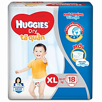 Tã quần Huggies Dry  XL18  ( 18 miếng cho bé 12-17kg ) - HSD luôn mới