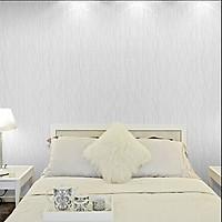 Cuộn 5m Decal Giấy Dán Tường vân trắng ( sợi chỉ xám)  (5m dài x 0.45m rộng)