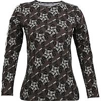 Áo T-shirt Nữ Tay Dài_Yvette LIBBY N'guyen Paris_YVETTE COOL WT1_Màu Xám (Iconic Grey)_Cotton Mélange hữu cơ (Organic)
