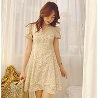 Đầm hoa nude Nuan Dress Gem Clothing SP060346