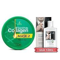 Mặt Nạ Dưỡng Trắng Collagen 145ml Da Khô - Tem Xanh cho Nam TẶNG Gel Vệ Sinh Vùng Kín Nam 100ml LANGCE