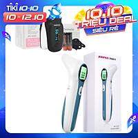 Combo Máy đo nồng độ oxy máu và nhịp tim, chỉ số PI Jumper SPO2 JPD-500D OLED và Nhiệt kế hồng ngoại không tiếp xúc Jumper FR300 (CHỨNG NHẬN FDA HOA KỲ + XUẤT USA)