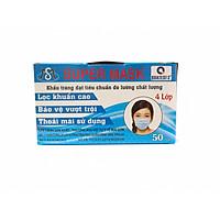 Khẩu Trang Y Tế Kháng Khuẩn Super Mask (4 lớp - hộp 50 cái)