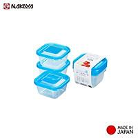 Bộ 3 hộp nhựa bảo quản thực phẩm Nakaya 300ml - Made in Japan