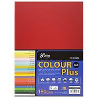 Tập Giấy Màu CAMPAP CR36568 - Tập 10 Tờ - Khổ A4 - Màu Đỏ