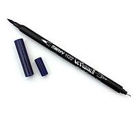Bút lông hai đầu màu nước Marvy LePlume II 1122 - Brush/ Extra fine tip - Prussian Blue (29)
