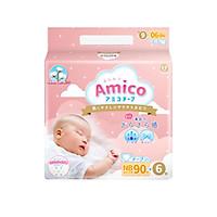 Bỉm - Tã dán Amico size NB 90+ 6 miếng (Cho bé < 5 kg)