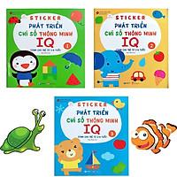 Bộ Sách Sticker Bóc Dán Phát Triển Chỉ Số Thông Minh IQ- Dành cho trẻ từ 2-6 tuổi