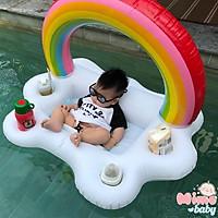 Phao bơi cầu vồng đựng cốc, phao cho bé sơ sinh