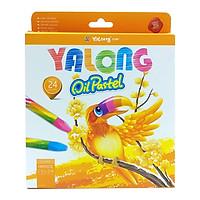 Sáp Dầu 24 Màu Yalong 95086-24 - Bao Bì Màu Cam
