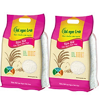 Combo 2 sản phẩm Gạo Hạt Ngọc Trời Tiên Nữ Túi 5kg - Cơm mềm dẻo, vị đậm ngọt, thơm nhẹ - Gạo Ngon Tiến Vua