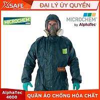 Quần áo chống hóa chất Ansell Alphatec 4000 - Xanh rêu