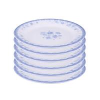 Bộ 6 Dĩa (Đĩa) 7 cạn xoắn An Toàn Sức Khỏe Nhựa Xanh Melamine A607