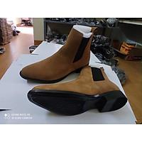Chelsea Boots da lộn, đế đúc, tăng chiều cao 6cm