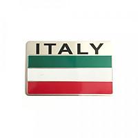 Tem Nhôm Cờ Italy Dán Xe Máy - Chất Liệu Alumnium - Chống Thấm Nước