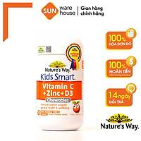 Viên Nhai Nature's Way Kids Smart Vitamin C+ZinC+D3 Chewable Tablets Cho Bé Phát Triển Toàn Diện 75 Viên