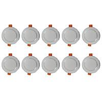 Bộ 10 Đèn Led âm trần 5w  ánh sáng vàng trung tính hàng chính hãng.