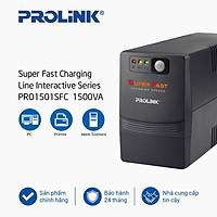 Bộ lưu điện UPS Prolink PRO1501SFC (1500VA) công nghệ Line Interactive - Hàng chính hãng