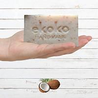 Xà phòng handmade Dừa thơm dịu nhẹ. dưỡng ẩm da, lâu hao -  Ekoko Soothing Coconut Soap 100g