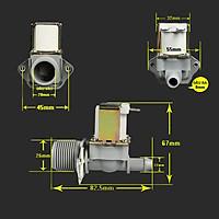 VAN ĐIỆN TỪ Van đầu vào ren 26mm, đầu ra ren 12mm, 12V DC - Thường Đóng (N/C)