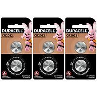 Combo 6 viên Pin đồng xu Duracell Lithium 2032 (2 viên/ vỉ x 3 vỉ) - O000019