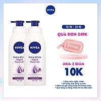 Bộ đôi Sữa Dưỡng Thể Trắng Da Nivea Ban Đêm (400ml) - 88126