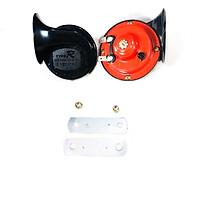 Còi ngân ốc sên đỏ dành cho xe máy, xe ô tô