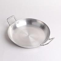 Chảo nhôm đáy bằng chiên thức ăn đường kính 18cm có tay cầm 2 bên cao cấp CNB01 – Gia dụng bếp