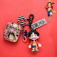 Bao Case Silicon Cho Tai Nghe Apple Airpods 6 món - Hình Monkey D. Luffy One Piece Đảo Hải Tặc