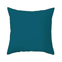 Gối Sofa, Gối vuông Trang Trí Cotton Đơn Sắc - Màu Xanh Cổ Vịt (45 x 45 cm)