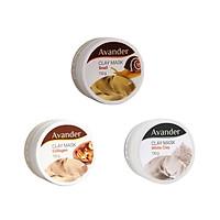Combo 3 hũ mặt nạ đất sét Avander ( chiết xuất ốc sên, collagen, đất set trắng)