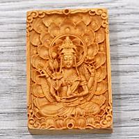 Mặt phật gỗ hoàng đàn - Thiên Thủ Thiên Nhãn MG13 - tuổi Tý