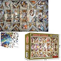 Bộ Tranh Ghép Xếp Hình 1000 Pcs Jigsaw Puzzle (Tranh ghép 70*50cm) Tranh Tường Nhà Thờ Bản Thú Vị Cao Cấp