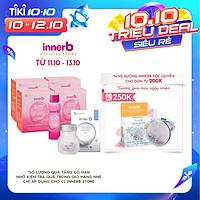 Combo 4 hộp 6 chai nước uống Collagen Vitamin C sáng da InnerB Glowshot và thực phẩm bảo vệ sức khỏe InnerB Snow White