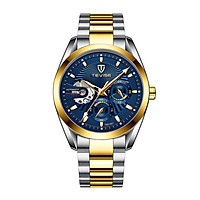 TEVISE Men Watches Automatic Mechanical Skeleton Watch Luminous Hands 3ATM Waterproof Fashion Luxury Stainless Steel