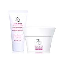 Combo Sữa rửa mặt dưỡng trắng & kem dưỡng trắng da ban ngày Za True White (Foam 50g + Day Cream 40g)
