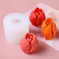 Khuôn silicon làm rau câu búp hoa Tulip