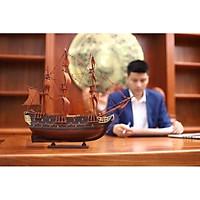 Thuyền buồm gỗ trắc để bàn