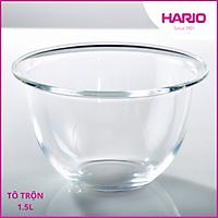 Tô Thủy Tinh Chịu Nhiệt Hario 1.5L Ø18.7cm MXP-150-BK (Dùng Được Lò Viba, Lò Nướng)