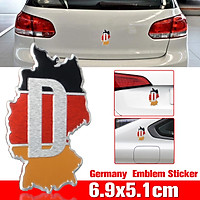 Universal Car Auto 3D Deutschland Germany Metal Map Flag Emblem Sticker