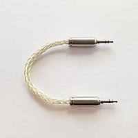 Dây IC, AUX, 2 đầu 3.5mm 8 lõi mạ tinh thể bạc cao cấp cho DAC / AMP