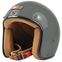 Mũ Bảo Hiểm 3/4 Bulldog Perro 4U 2020 - Nardo Grey - Hàng Chính Hãng